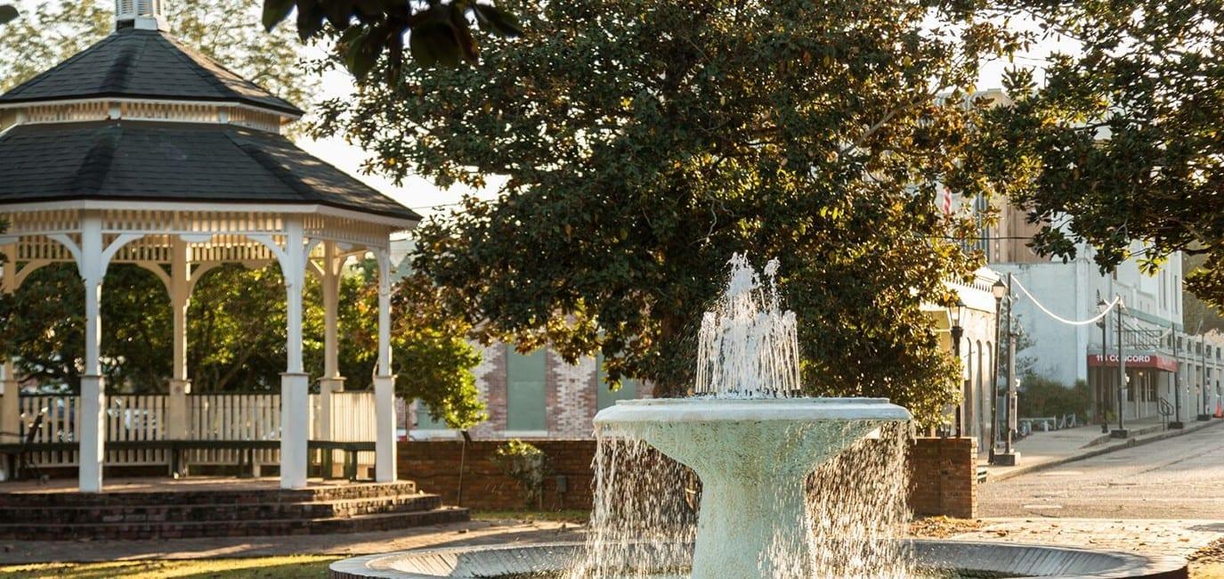 photo: Abbeville, LA water fountain